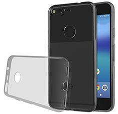 Silikon Schutzhülle Ultra Dünn Tasche Durchsichtig Transparent T02 für Google Pixel Grau