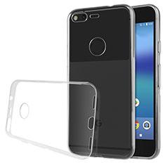 Silikon Schutzhülle Ultra Dünn Tasche Durchsichtig Transparent T02 für Google Pixel XL Klar