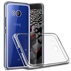 Silikon Schutzhülle Ultra Dünn Tasche Durchsichtig Transparent T02 für HTC U11 Klar