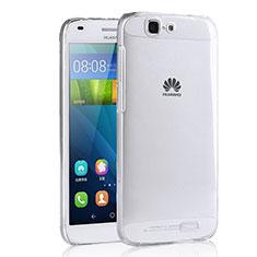 Silikon Schutzhülle Ultra Dünn Tasche Durchsichtig Transparent T02 für Huawei Ascend G7 Klar