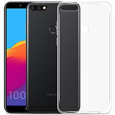 Silikon Schutzhülle Ultra Dünn Tasche Durchsichtig Transparent T02 für Huawei Enjoy 8 Klar