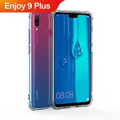 Silikon Schutzhülle Ultra Dünn Tasche Durchsichtig Transparent T02 für Huawei Enjoy 9 Plus Klar