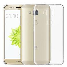 Silikon Schutzhülle Ultra Dünn Tasche Durchsichtig Transparent T02 für Huawei G7 Plus Klar