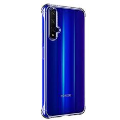 Silikon Schutzhülle Ultra Dünn Tasche Durchsichtig Transparent T02 für Huawei Honor 20 Klar