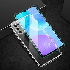 Silikon Schutzhülle Ultra Dünn Tasche Durchsichtig Transparent T02 für Huawei Honor 30 Lite 5G Klar