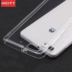 Silikon Schutzhülle Ultra Dünn Tasche Durchsichtig Transparent T02 für Huawei Honor 4C Klar