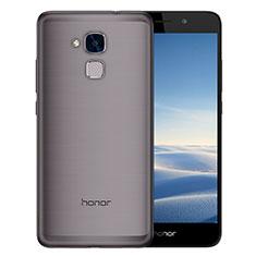Silikon Schutzhülle Ultra Dünn Tasche Durchsichtig Transparent T02 für Huawei Honor 7 Lite Grau