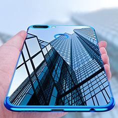 Silikon Schutzhülle Ultra Dünn Tasche Durchsichtig Transparent T02 für Huawei Honor 9i Blau