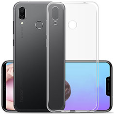Silikon Schutzhülle Ultra Dünn Tasche Durchsichtig Transparent T02 für Huawei Honor Play Klar