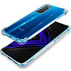 Silikon Schutzhülle Ultra Dünn Tasche Durchsichtig Transparent T02 für Huawei Honor Play4 5G Klar