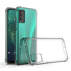 Silikon Schutzhülle Ultra Dünn Tasche Durchsichtig Transparent T02 für Huawei Honor Play4T Pro Klar