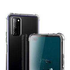 Silikon Schutzhülle Ultra Dünn Tasche Durchsichtig Transparent T02 für Huawei Honor View 30 5G Klar