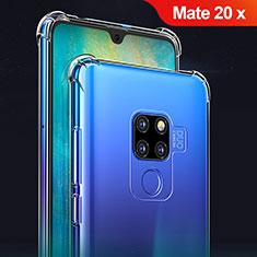 Silikon Schutzhülle Ultra Dünn Tasche Durchsichtig Transparent T02 für Huawei Mate 20 X 5G Klar