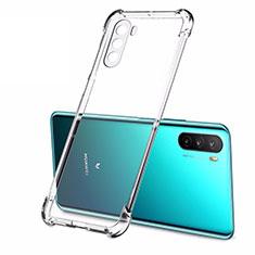 Silikon Schutzhülle Ultra Dünn Tasche Durchsichtig Transparent T02 für Huawei Mate 40 Lite 5G Klar