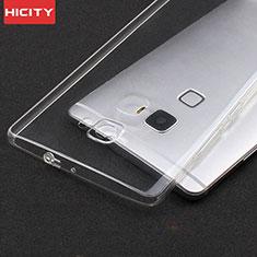 Silikon Schutzhülle Ultra Dünn Tasche Durchsichtig Transparent T02 für Huawei Mate S Klar