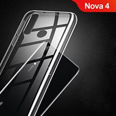 Silikon Schutzhülle Ultra Dünn Tasche Durchsichtig Transparent T02 für Huawei Nova 4 Klar