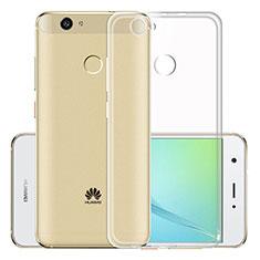 Silikon Schutzhülle Ultra Dünn Tasche Durchsichtig Transparent T02 für Huawei Nova Klar