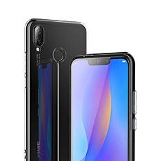 Silikon Schutzhülle Ultra Dünn Tasche Durchsichtig Transparent T02 für Huawei P Smart+ Plus Klar