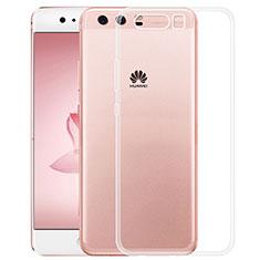 Silikon Schutzhülle Ultra Dünn Tasche Durchsichtig Transparent T02 für Huawei P10 Klar