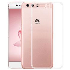 Silikon Schutzhülle Ultra Dünn Tasche Durchsichtig Transparent T02 für Huawei P10 Plus Klar