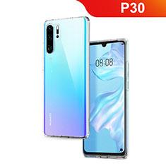 Silikon Schutzhülle Ultra Dünn Tasche Durchsichtig Transparent T02 für Huawei P30 Pro Klar