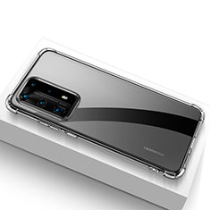 Silikon Schutzhülle Ultra Dünn Tasche Durchsichtig Transparent T02 für Huawei P40 Pro+ Plus Klar