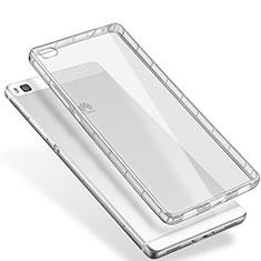 Silikon Schutzhülle Ultra Dünn Tasche Durchsichtig Transparent T02 für Huawei P8 Klar