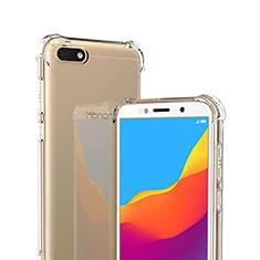 Silikon Schutzhülle Ultra Dünn Tasche Durchsichtig Transparent T02 für Huawei Y5 (2018) Klar