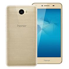 Silikon Schutzhülle Ultra Dünn Tasche Durchsichtig Transparent T02 für Huawei Y5 II Y5 2 Klar