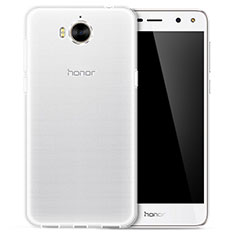 Silikon Schutzhülle Ultra Dünn Tasche Durchsichtig Transparent T02 für Huawei Y6 (2017) Klar