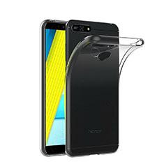Silikon Schutzhülle Ultra Dünn Tasche Durchsichtig Transparent T02 für Huawei Y6 (2018) Klar