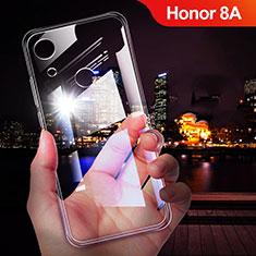 Silikon Schutzhülle Ultra Dünn Tasche Durchsichtig Transparent T02 für Huawei Y6 Prime (2019) Klar