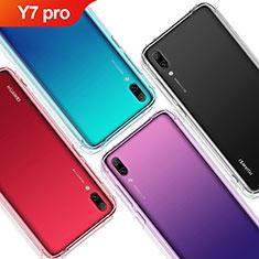 Silikon Schutzhülle Ultra Dünn Tasche Durchsichtig Transparent T02 für Huawei Y7 (2019) Klar