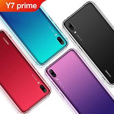 Silikon Schutzhülle Ultra Dünn Tasche Durchsichtig Transparent T02 für Huawei Y7 Prime (2019) Klar