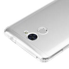 Silikon Schutzhülle Ultra Dünn Tasche Durchsichtig Transparent T02 für Huawei Y7 Prime Klar