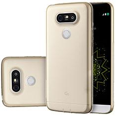 Silikon Schutzhülle Ultra Dünn Tasche Durchsichtig Transparent T02 für LG G5 Gold
