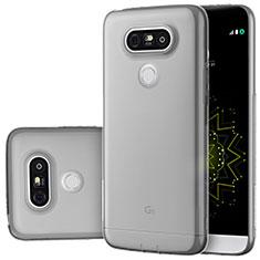 Silikon Schutzhülle Ultra Dünn Tasche Durchsichtig Transparent T02 für LG G5 Grau