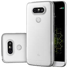 Silikon Schutzhülle Ultra Dünn Tasche Durchsichtig Transparent T02 für LG G5 Klar