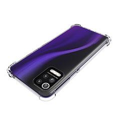 Silikon Schutzhülle Ultra Dünn Tasche Durchsichtig Transparent T02 für LG Q52 Klar