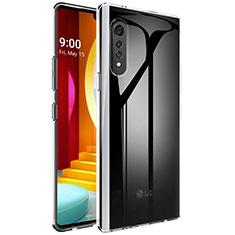 Silikon Schutzhülle Ultra Dünn Tasche Durchsichtig Transparent T02 für LG Velvet 5G Klar