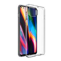Silikon Schutzhülle Ultra Dünn Tasche Durchsichtig Transparent T02 für Motorola Moto One 5G Klar