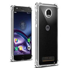 Silikon Schutzhülle Ultra Dünn Tasche Durchsichtig Transparent T02 für Motorola Moto Z Play Klar