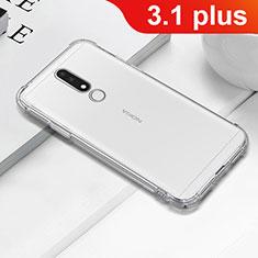 Silikon Schutzhülle Ultra Dünn Tasche Durchsichtig Transparent T02 für Nokia 3.1 Plus Klar