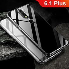 Silikon Schutzhülle Ultra Dünn Tasche Durchsichtig Transparent T02 für Nokia 6.1 Plus Klar