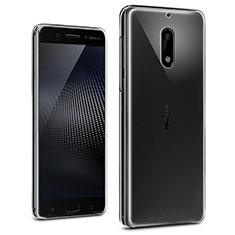 Silikon Schutzhülle Ultra Dünn Tasche Durchsichtig Transparent T02 für Nokia 6 Klar