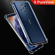Silikon Schutzhülle Ultra Dünn Tasche Durchsichtig Transparent T02 für Nokia 9 PureView Klar