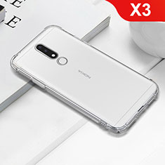 Silikon Schutzhülle Ultra Dünn Tasche Durchsichtig Transparent T02 für Nokia X3 Klar