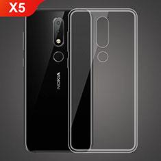 Silikon Schutzhülle Ultra Dünn Tasche Durchsichtig Transparent T02 für Nokia X5 Klar