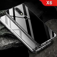 Silikon Schutzhülle Ultra Dünn Tasche Durchsichtig Transparent T02 für Nokia X6 Klar