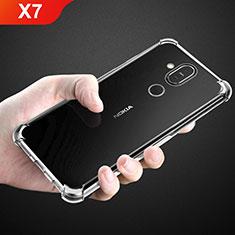 Silikon Schutzhülle Ultra Dünn Tasche Durchsichtig Transparent T02 für Nokia X7 Klar